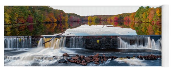 Yoga Mat featuring the photograph Power Of The Shetucket by Michael Hughes