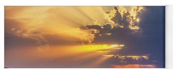Powerful Sunbeams Yoga Mat