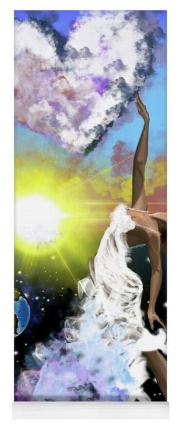 Prayer Before The Sun Sets Yoga Mat