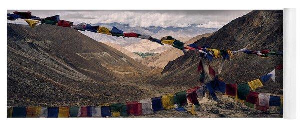 Prayer Flags In The Himalayas Yoga Mat