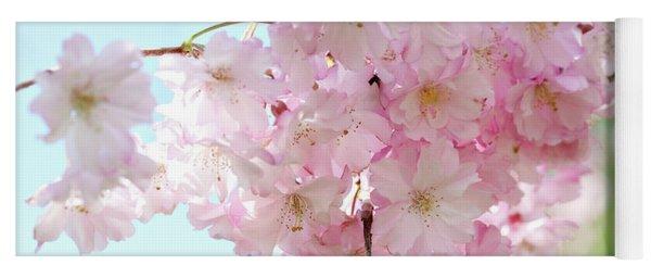 Pretty Pink Blossoms Yoga Mat
