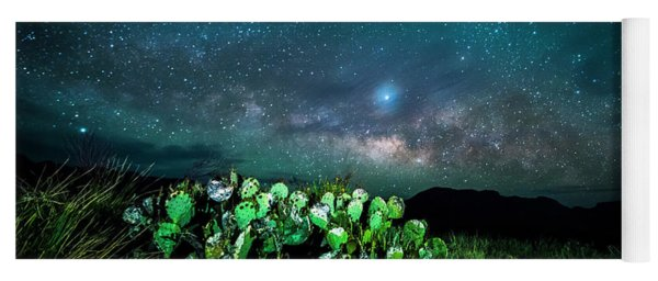 Prickly Pear Beneath The Milky Way Yoga Mat