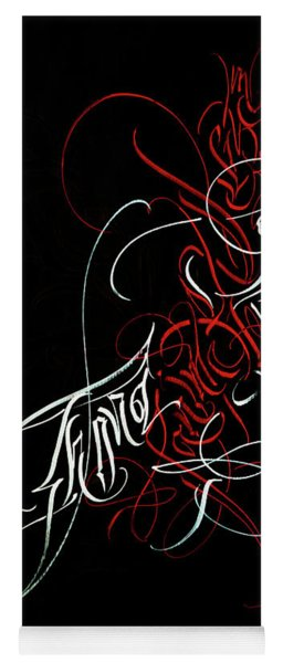 Process Of Formation. Calligraphic Abstract Yoga Mat