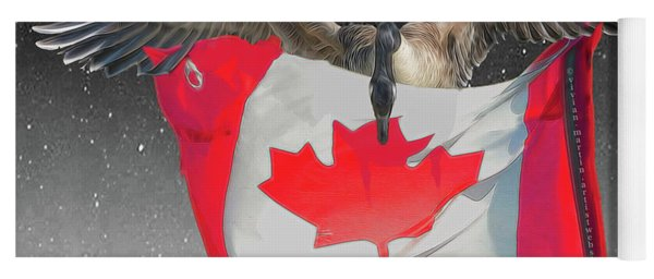 Proud To Be Canadian Yoga Mat