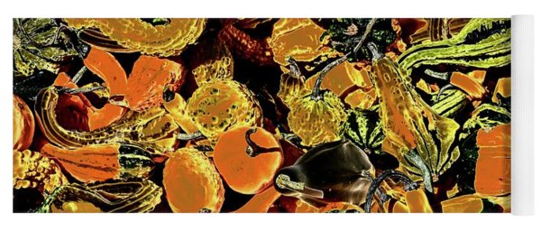 Psychedelic Winter Squash 2 Yoga Mat