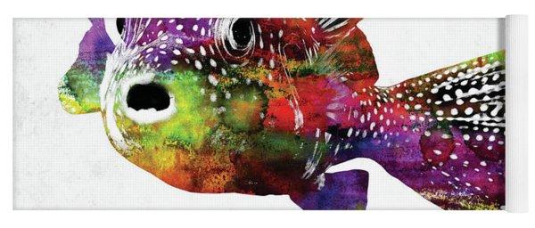 Puffer Fish Watercolor Yoga Mat