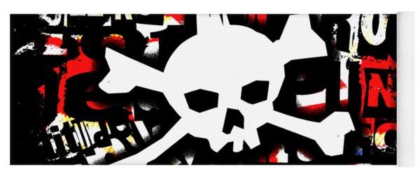 Punk Skull Graphic Yoga Mat