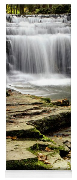Pure And Tranquil Waterfall Yoga Mat