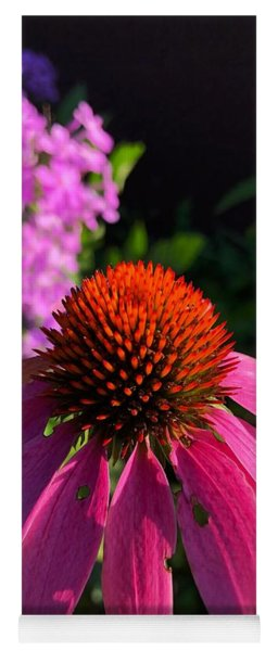 Yoga Mat featuring the photograph Purple Coneflower by Lukas Miller