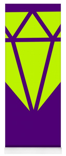 Purple Diamond Yellow Yoga Mat