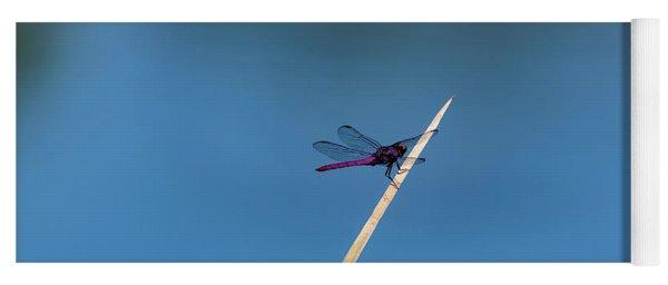 Purple Dragonfly Yoga Mat