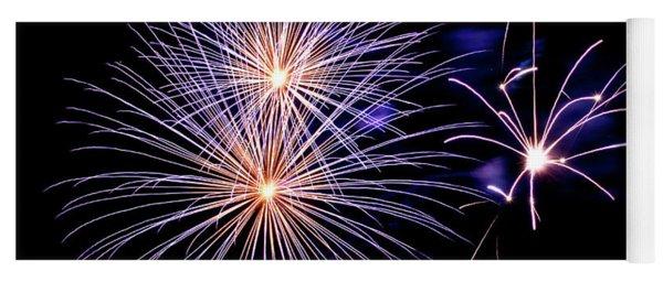 Purple Fireworks Yoga Mat
