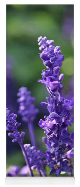 Purple Flower With Bokeh Yoga Mat