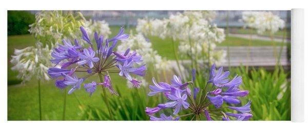 Purple Flowers In San Diego Yoga Mat