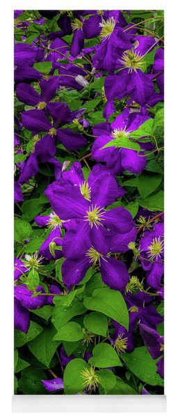 Yoga Mat featuring the photograph Purple Flowers by Lora J Wilson