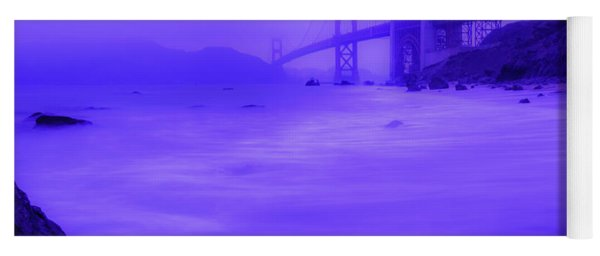 Purple Golden Gate Fog Yoga Mat