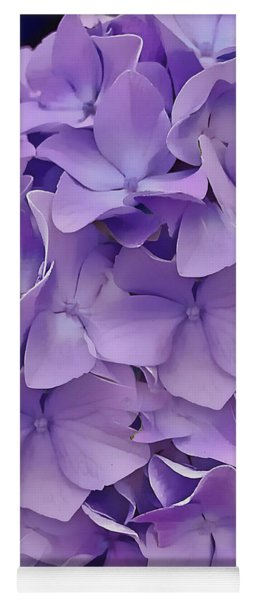 Purple Hydrangea  Yoga Mat