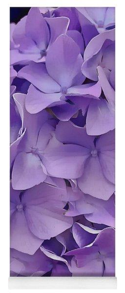 Yoga Mat featuring the digital art Purple Hydrangea  by Cindy Greenstein