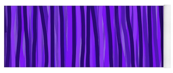 Purple Lines Yoga Mat