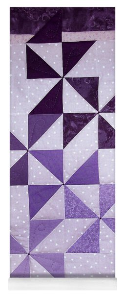 Purple Pinwheels Pirouetting Yoga Mat