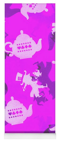 Purple Tea Party Yoga Mat