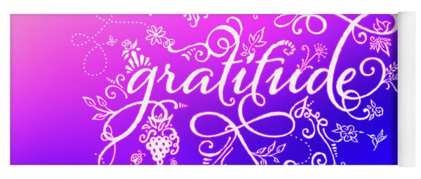 Purply Pink Gratitude Yoga Mat
