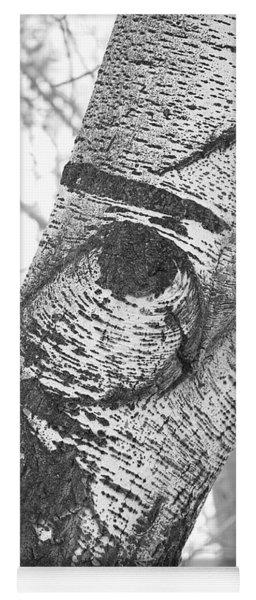 Quail In The Poplar Tree Yoga Mat