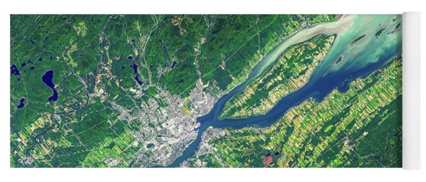 Quebec City From Space Yoga Mat