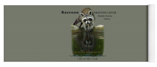 Raccoon Puzzler And Mastermind Yoga Mat