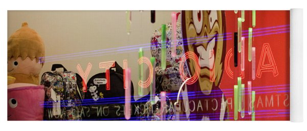 Yoga Mat featuring the photograph Radio City Reflection by Steve Stanger