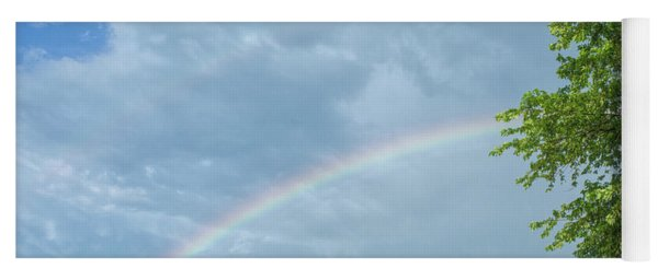 Rainbow And A Tree Yoga Mat