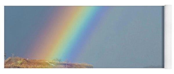 Rainbow At Spring Point Ledge Yoga Mat