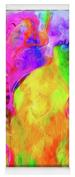 Rainbow Blossom Yoga Mat