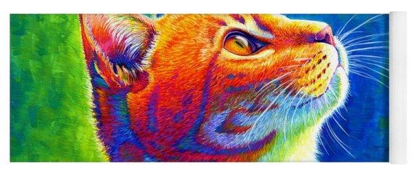 Rainbow Cat Portrait Yoga Mat