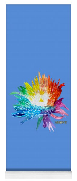 Rainbow Chrysanthemum Yoga Mat