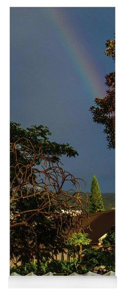 Rainbow Ended At The Church Yoga Mat