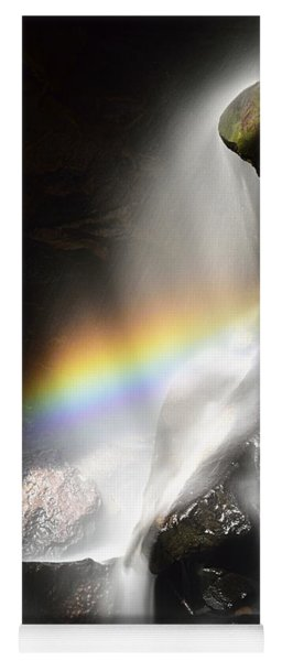 Rainbow In Broken Rock Falls Yoga Mat