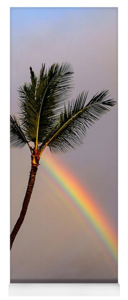 Rainbow Just Before Sunset Yoga Mat