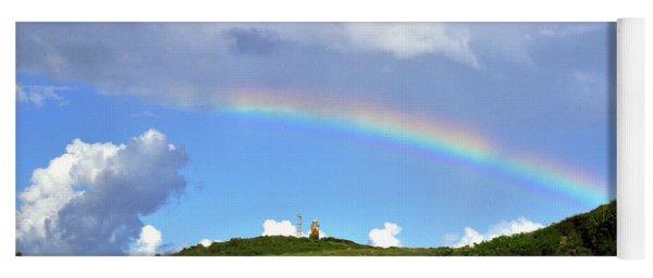 Rainbow Over Buck Island Lighthouse Yoga Mat