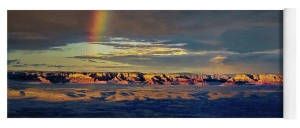 Rainbow Over Sedona Yoga Mat