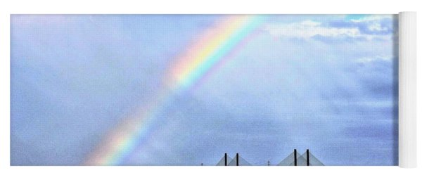 Rainbow Over The Indian River Inlet Bridge Yoga Mat