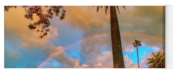 Rainbow Over The Palms Yoga Mat