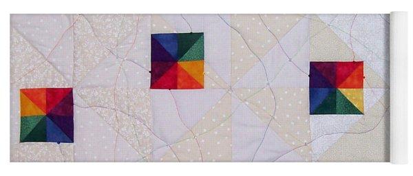 Rainbow Pinwheel Yoga Mat