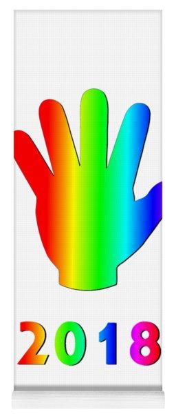 Rainbow Wave Yoga Mat