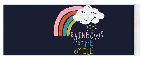 Rainbows Make Me Smile - Baby Room Nursery Art Poster Print Yoga Mat