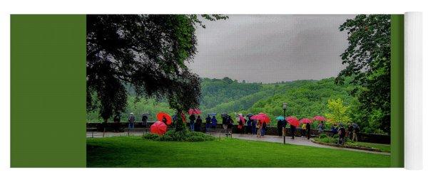 Rainy Day Umbrellas Yoga Mat