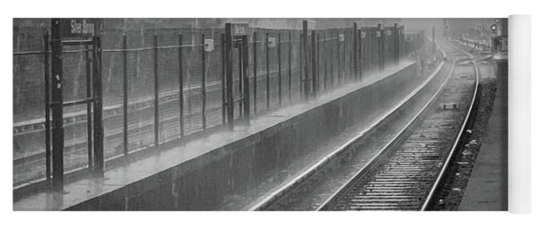 Yoga Mat featuring the photograph Rainy Days And Metro by Lora J Wilson