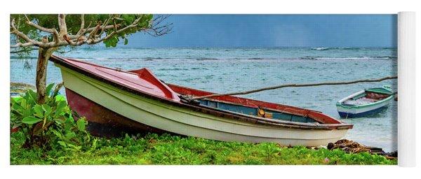 Rainy Fishing Day Yoga Mat