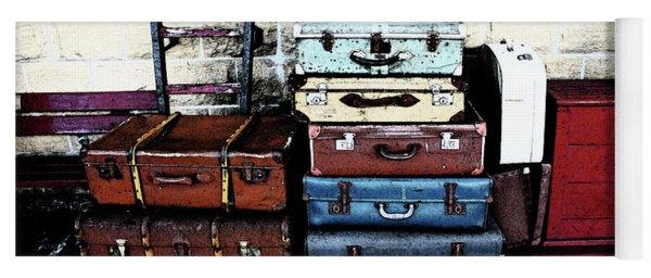 Ramsbottom.  Elr Railway Suitcases On The Platform. Yoga Mat