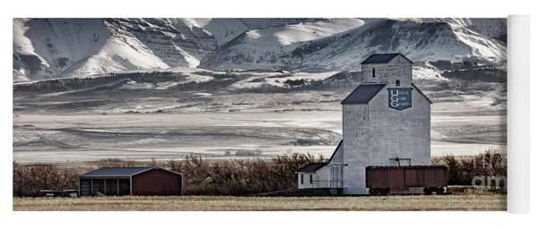 Yoga Mat featuring the photograph Ranchland Elevator by Brad Allen Fine Art